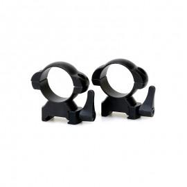 Кольца Weaver стальные быстросъем D30/H12 средние
