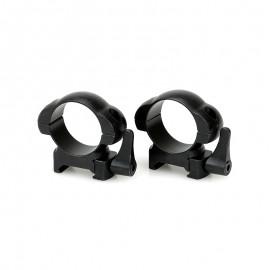 Кольца Weaver стальные быстросъем D30/H7 низкие
